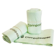 compokeeper compostable bags 12 roll staples