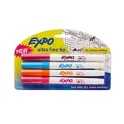 Expo Ultra Fine Point Dry-Erase Marker, Assorted, 4/Pack (1884308)