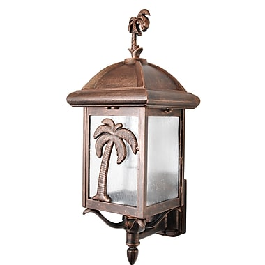 Melissa Americana 1 Light Outdoor Sconce; Architectural Bronze