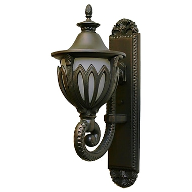 Melissa Tuscany 1 Light Outdoor Sconce; Old World