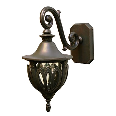 Melissa Tuscany 1-Light Outdoor Wall Lantern; Black