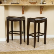Home Loft Concept Avondale 30'' Bar Stool with Cushion (Set of 2)