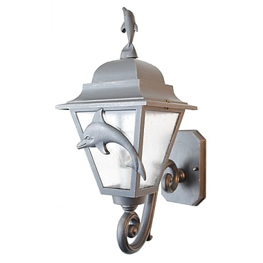 Melissa Americana 1 Light Outdoor Sconce; Rusty Nail