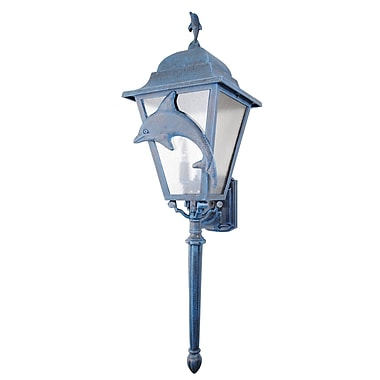 Melissa Americana 3 Light Outdoor Sconce; Old Copper