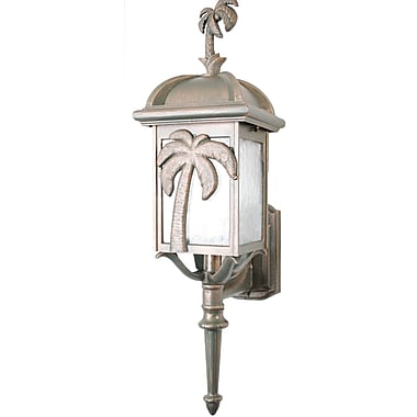 Melissa Americana 1-Light Outdoor Sconce; Old Copper