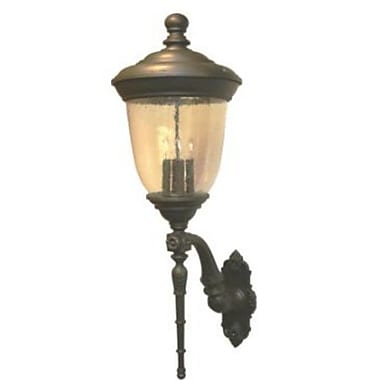 Melissa Tuscany 3-Light Outdoor Sconce; Old Iron