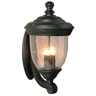 Melissa Tuscany 4 Light Outdoor Sconce; Old Iron