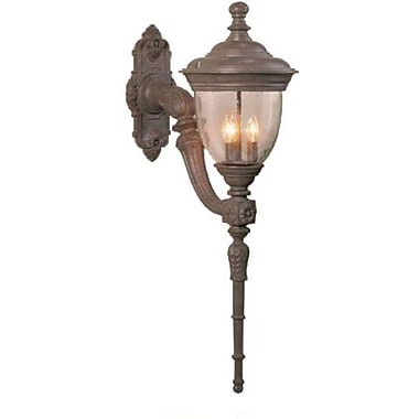 Melissa Tuscany 4 Light Outdoor Sconce; Old Copper