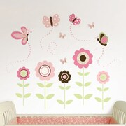 WallPops! Wall Art Kit Butterfly Garden Wall Decal