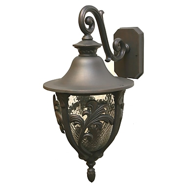Melissa Tuscany 3 Light Outdoor Wall Lantern; Architectural Bronze