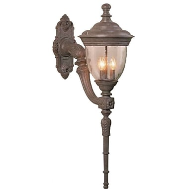 Melissa Tuscany 3-Light Outdoor Sconce; Black
