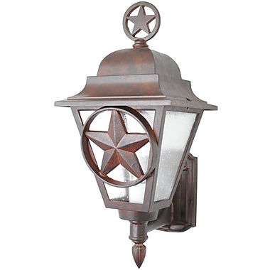 Melissa Americana 1-Light Outdoor Sconce; Rusty Nail