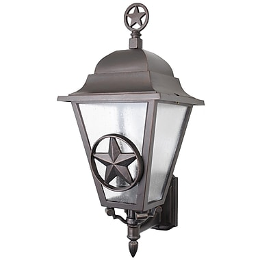 Melissa Americana 3 Light Outdoor Sconce; Black