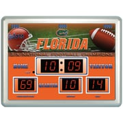 Team Sports America NCAA ScoreBoard Wall Clock with Thermometer; Michigan State