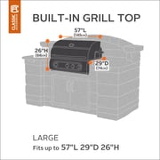Classic Accessories Hickory Heavy-Duty Built-In Grill Cover; Large