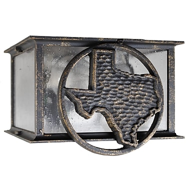 Melissa Americana 2 Light Flush Mount; Architectural Bronze