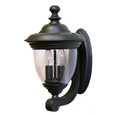 Melissa Tuscany 2-Light Outdoor Sconce; Rusty Nail