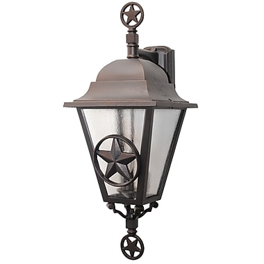 Melissa Americana 3-Light Outdoor Wall Lantern; Rusty Nail