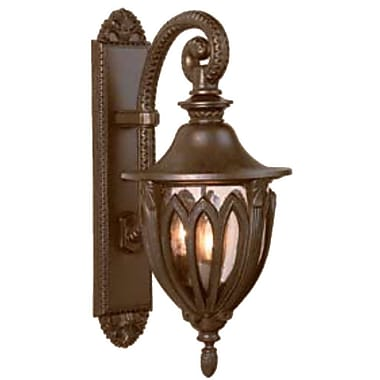 Melissa Tuscany 3 Light Outdoor Wall Lantern; Old Copper