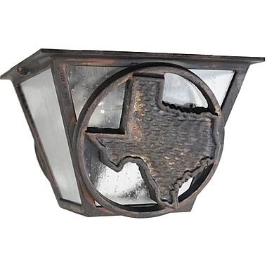 Melissa Americana 2-Light Flush Mount; Architectural Bronze