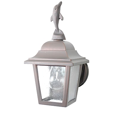 Melissa Americana 1 Light Wall Lantern; Black