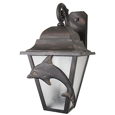 Melissa Americana 3 Light Outdoor Wall Lantern; Black