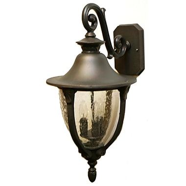 Melissa Tuscany 4-Light Outdoor Wall Lantern; Old World