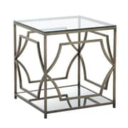 Pangea Home Edward End Table; Brass