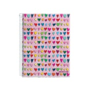 "Miquelrius Pink Hearts Four-Subject Notebook, College Ruled, 8.5"" x 11"" (43197)"