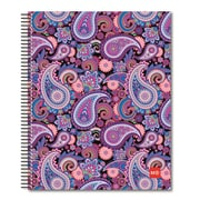 "Miquelrius 4-Subject Notebook, College Rule, 8.5"" x 11"", Purple Paisley ,(45052)"