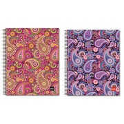 "Miquelrius Paisley 4-Subject Notebook, College Rule, 6.5"" x 8"", Pink & Purple (45072)"