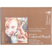 """Strathmore Colored Pencil Spiral Paper Pad 18"""" x 24"""" (62477180)"""