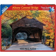 White Mountain Puzzles 1000-Piece Jigsaw Puzzle, Albany Covered Bridge (WM1117PZ)