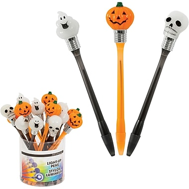 Merangue - Stylos de l'Halloween à faisceau lumineux Light Up, paq./18