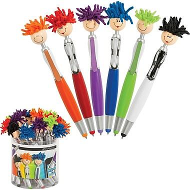 Merangue Mop Top Stylus Ballpoint Pens, 18/Pack