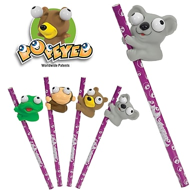 Merangue - Crayons à mine aux personnages/animaux avec yeux amusants Popeyed Buddies, paq./48