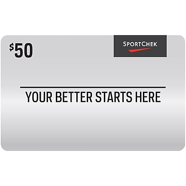 Sport Chek – Carte-cadeau de 50 $