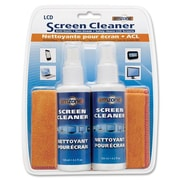 Empack LCD Screen Cleaner Kit, 4-oz. Pumps, Microfibre Cloths