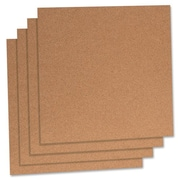 "Cork Panels, 12"" x 12"", 4/PK, Natural"