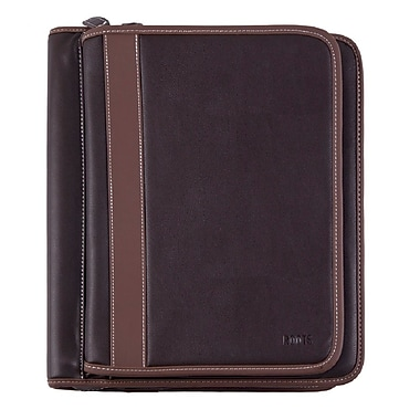 Roots Deluxe Binder with Two Zip Arounds, Brown