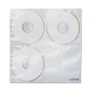 "C-Line CD/DVD Binder Kit Refill, 10-1/4""Wx10-1/4""H, 5 Pages, CL/WE, 5/Pack"