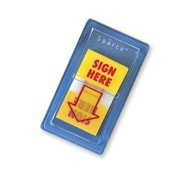 """Sparco Sign Here Arrow Flags, Dispenser, 1"""" x 1-3/4"""", Yellow, 100/Pack"""