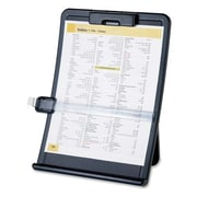 """Sparco Document Holder, Curved, Line Guide, 10"""" x 2-1/2"""" x 14-3/8"""", Black, Each"""