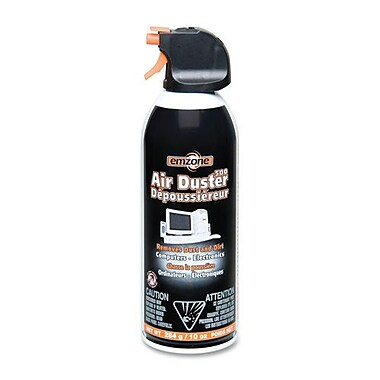 Empack Air Duster Compressed Air 500, Mini, 10oz., Black/Orange