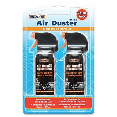 Empack Air Duster Compressed Air Mini Double Pack, 3oz., Black/Orange