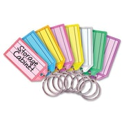 """MMF Industries Replacement Key Tags, 1-1/8"""" x 1/4"""" x 3-1/4"""", 4/Pack, Assorted"""