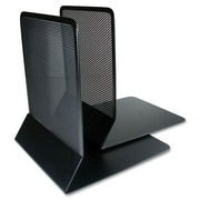 "Artistic Punched Metal Bookends, 6-1/2"" x 5-1/2"" x 6-1/2"", Black"