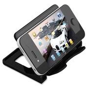 "Deflect-O Smartphone Stand, Hands-Free, 4"" x 2-3/4"" x 2-3/4"", Black"