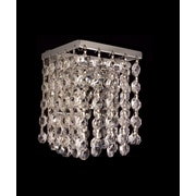 Classic Lighting Bedazzle 1 Light Wall Sconce; Swarovski Elements Emerald