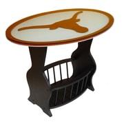 Fan Creations NCAA Glass End Table; Texas